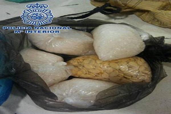 8 kg de droga procedente de Nigeria