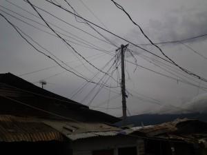 Foto: Cables descontrolados