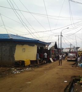 Foto: Algunos locales comerciales de la zona