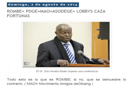 """Amalio Buaki defiende """"a capa y espada"""" a su líder"""