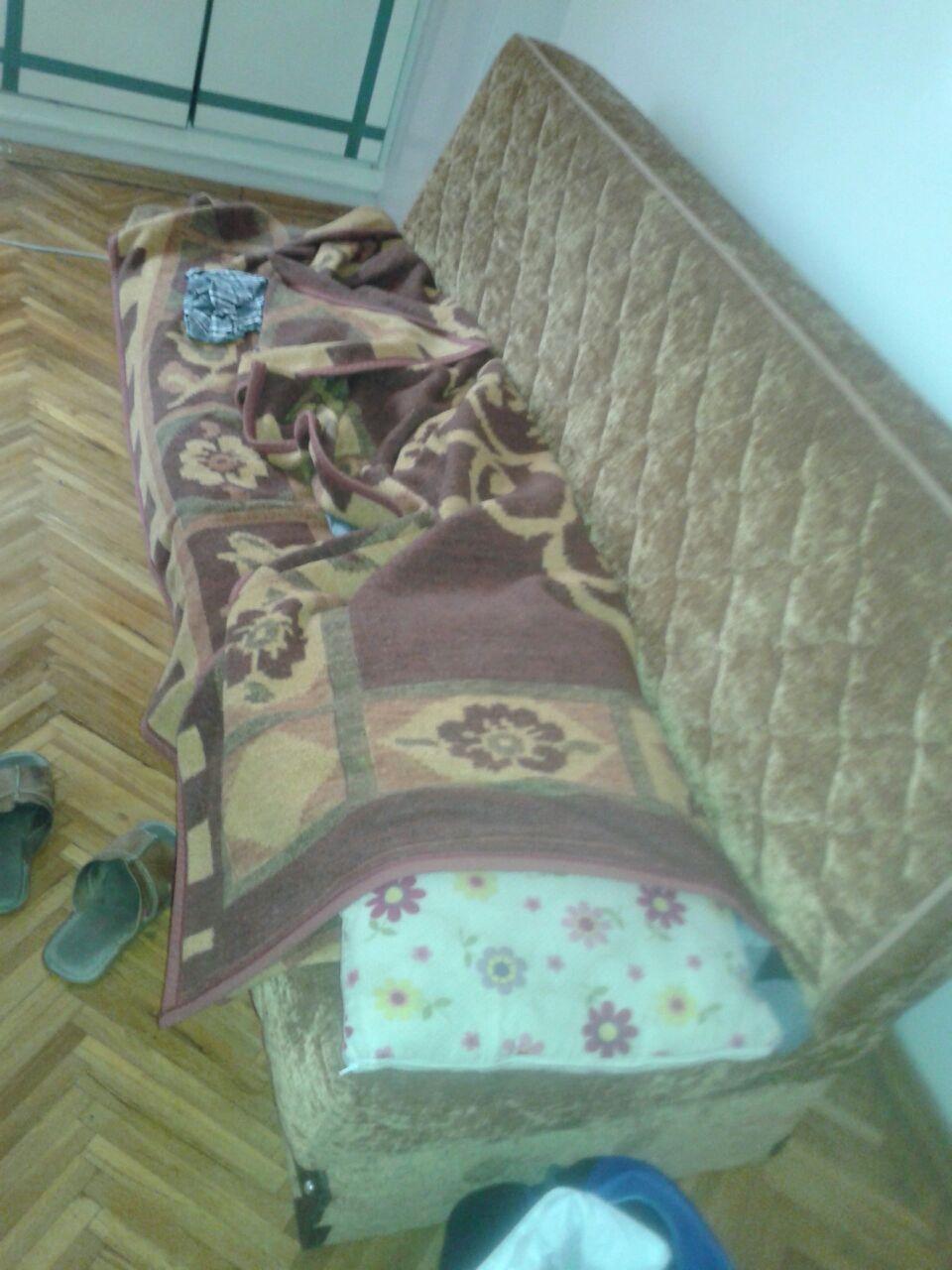 Todos duermen en este  tipo de sofás.