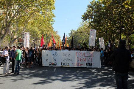Los estudiantes se manifiestan en defensa de  una Educación Pública y de calidad