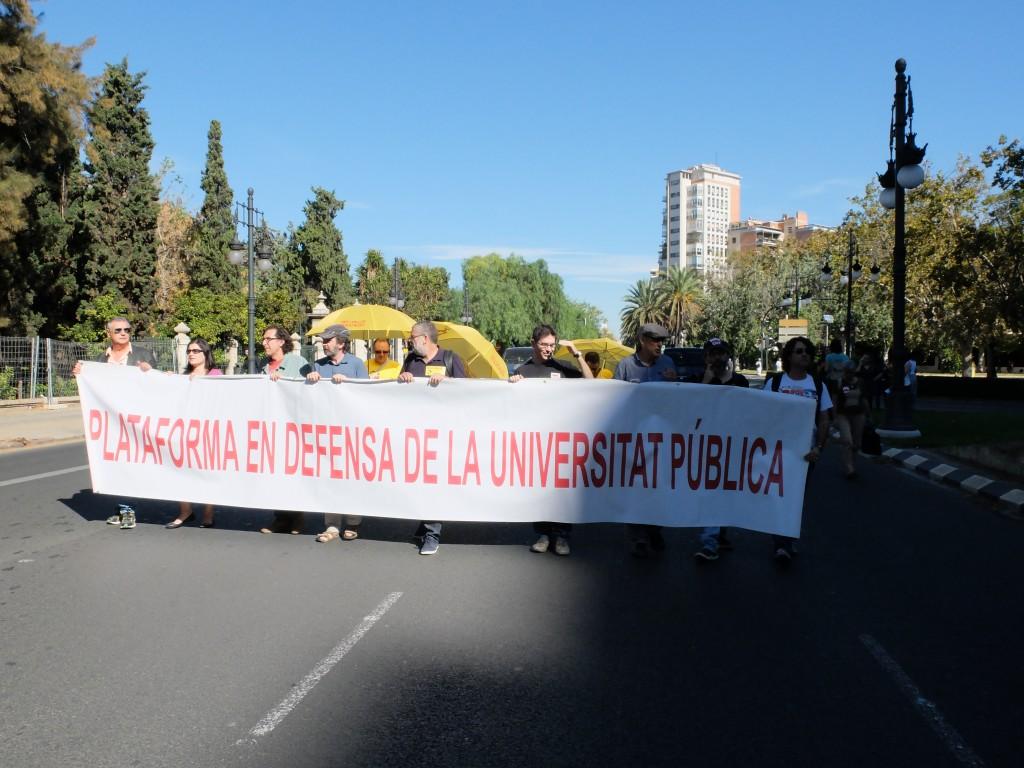 Plataforma en defensa de una edcuación pública  Foto: Valeria