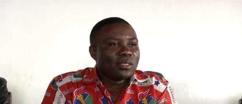 Secretario de Estado en el Ministerio de Trabajo y Seguridad Social, D. Hermenegildo Mba Mangue. Posible sucesor de Muela Mueña