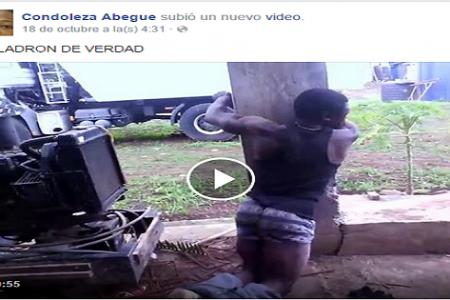 """Vídeo: Grupo de jóvenes propinan una brutal paliza a un """"ladrón"""" en Malabo"""