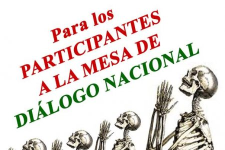Desde mi granja, a todos los participantes en el Dialogo Nacional