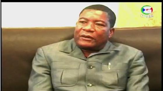 Presidente de la Corte Suprema de Justicia Martin Ndong Nsue