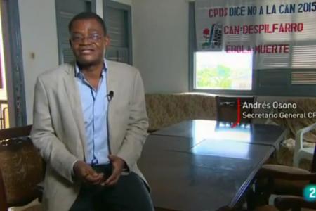 """Andres Esono """"sí muere Obiang  sin haber resuelto la transición"""""""