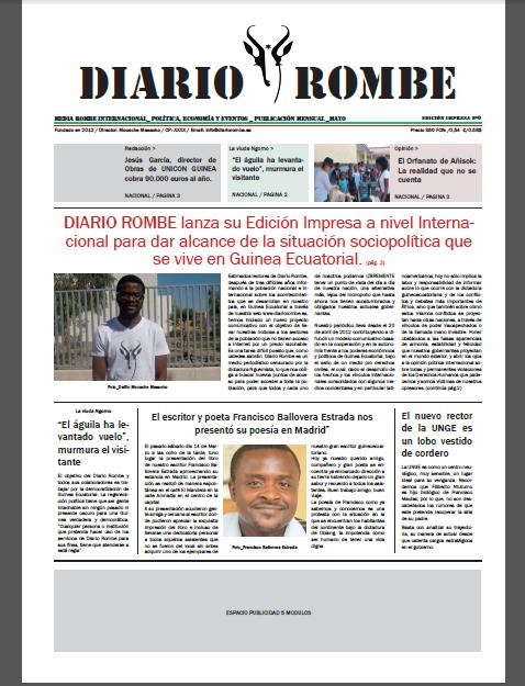 En breve podrán adquirir el primer nº de la Edición Impresa en Guinea y España