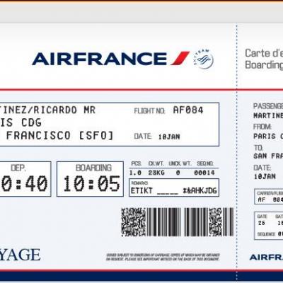 "Nicolas Obama Nchama incapaz de falsificar una tarjeta de Embarque de ""Aire France"""