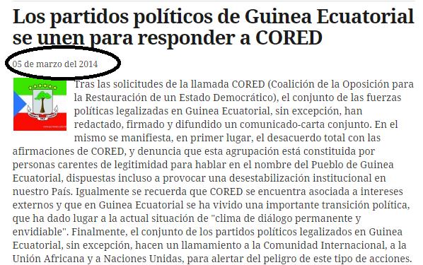 CPDS y Diario Rombe no tienen claro las fechas..