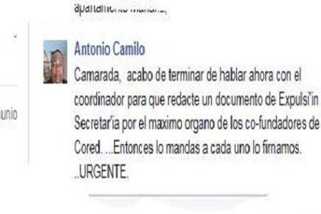 """Antonio Camilo """"acabo de hablar con Salomon para que redacte la expulsión de Emely"""""""