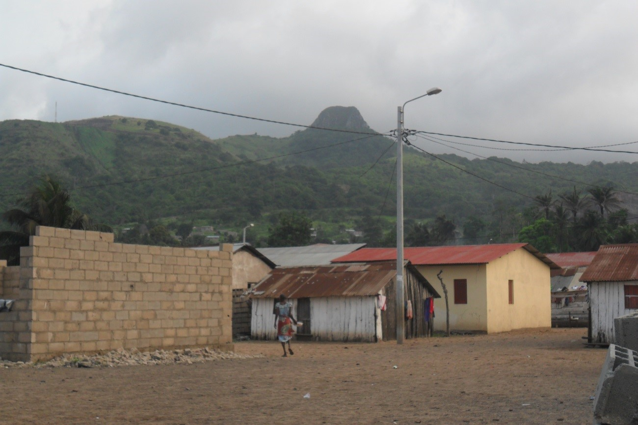 Foto actual, isla de Annobón