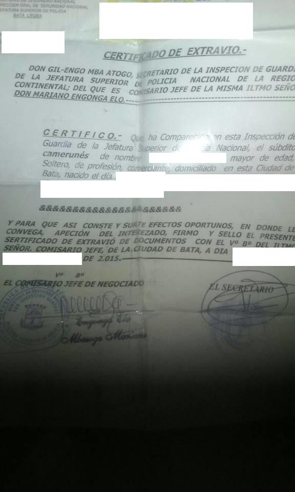 Gil Engo Mba Alogo Inspector de Guardia Nacional crea su propia fuente de financiación