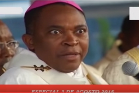 Juan Nsue Edjang celebró la misa en la conmemoración del Golpe de Estado mezclando español y Fang