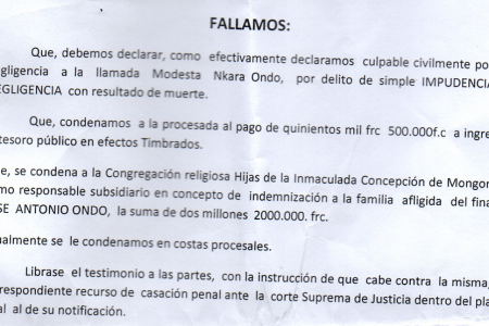 Indemnizan con 2000.000 Fcfa a la familia del joven Maiken asesinado en Mongomo