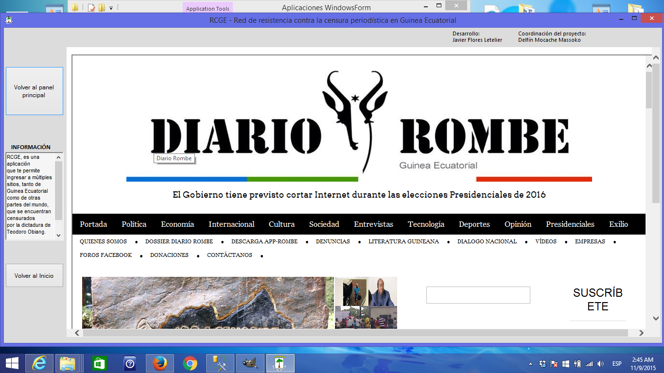 Acceso a Diario Rombe