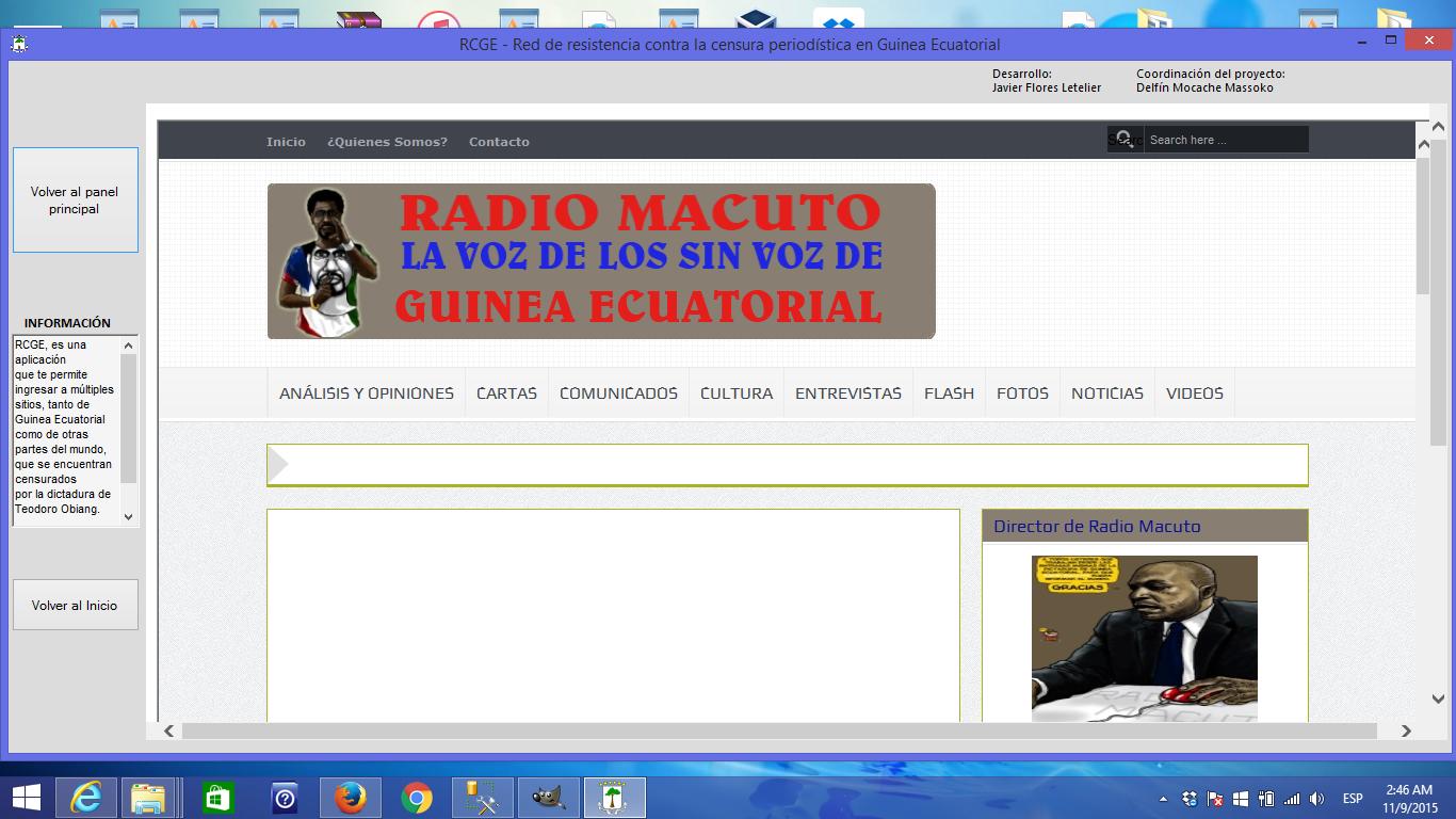 Acceso a Radio Macuto