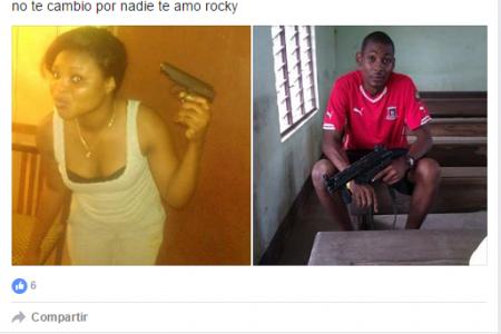 """Asunción Mangue Obiang """"mi corazón pertenece a mi cucu"""" y se apunta a su cabeza una pistola"""