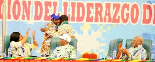 El Discurso de Mbega Obiang Lima y el abrazo de los dos hermanos