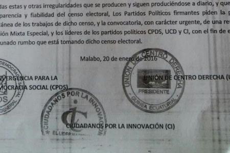 """Los Partidos Políticos legalizados exigen la paralización """"momentánea"""" del Censo Electoral"""