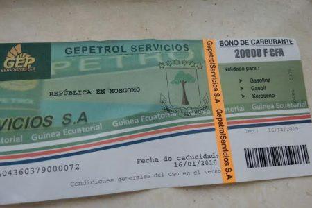 """Nuevos cupones expedidos por Gepetrol """"República en Mongomo"""""""