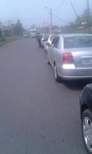Largas colas en Sampaka