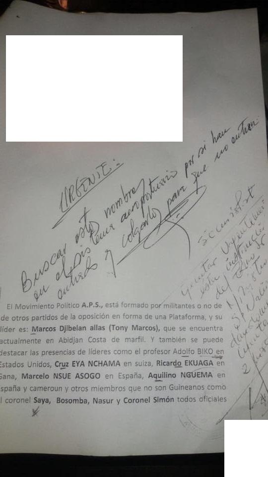 Documento publicado por Radio Macuto