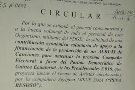 """El PDGE solicita a los empleados de INSESO una aportación """"voluntaria"""" para grabar canciones"""