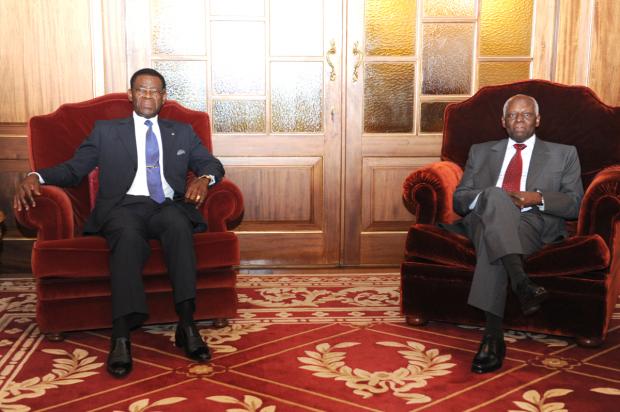 Obiang Nguema y Dos Santos