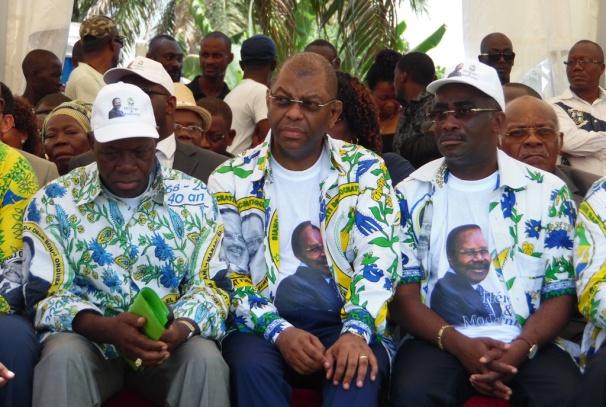 Alexandre Barro-Chambrier, Michel Menga y Jonathan Ignoumba