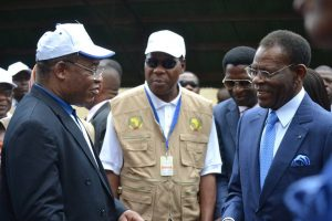 Clemente Engonga, Boni Yayi y Teodoro Obiang Nguema