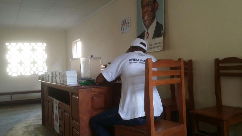 Fotografia de Obiang Nguema candidato a la presidencia del Gobierno.