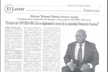 "Marcos Manuel ""El cierre de COFYDES-MiCAJA se implementó a través de la Autoridad Monetaria Nacional"""