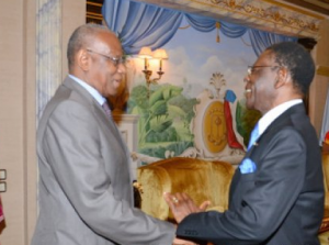 Abdoulaye Bathily y Teodoro Obiang Nguema