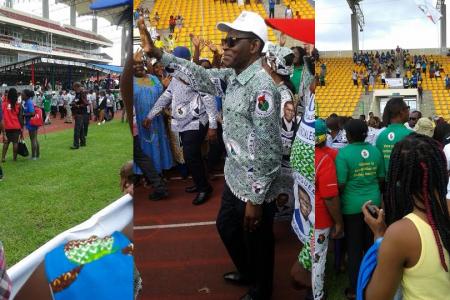 Fracasa la convocatoria del PDGE y acólitos en su primer mitin electoral en el Estadio