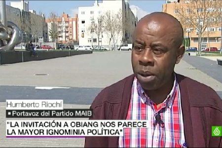"""Humberto Riochí """"La solución es votar contra el candidato del PDGE. El voto opositor debe convertirse en voto a UCD"""""""