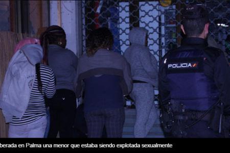 Liberada en Palma una menor Guineana que estaba siendo explotada sexualmente