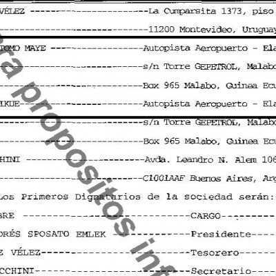 Crispin Edu Tomo y Jonas Nsue Mikue administradores de GEPNARIS SA registrada en un paraíso fiscal