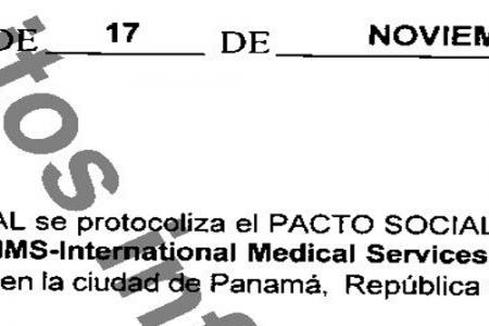 El Hospital Guadalupe de Mongomo y la Paz de Oyala son dos sociedades registradas en Panamá desde 2011
