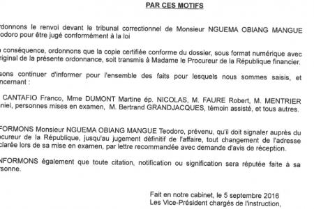 Segunda parte: El Síndrome de desorden financiero de Teodoro Nguema Obiang Mangue