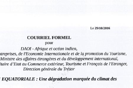 Las autoridades guineanas falsifican por segunda vez la firma del Embajador de Francia en Guinea Ecuatorial