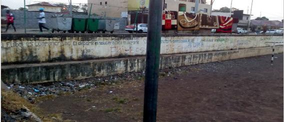 """El deteriorado aspecto del Campo """"Macuandja Ngongolo"""""""