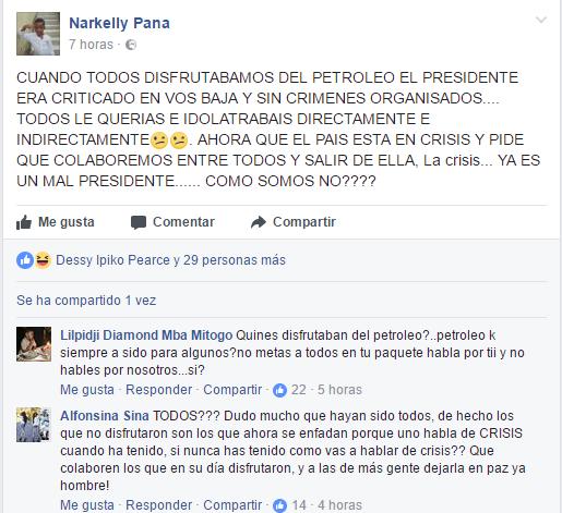 Los internautas ridiculizan y arremeten contra el artista Narkelly Pana por adular al dictador Obiang.