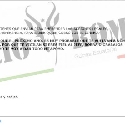 """Candido Muatetema Rivas fue advertido por Email sobre el inminente """"ataque"""" que habría de recibir"""