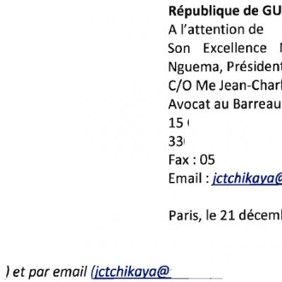Información confidencial: la carta que Orange envió a Obiang recordándole su deuda pendiente