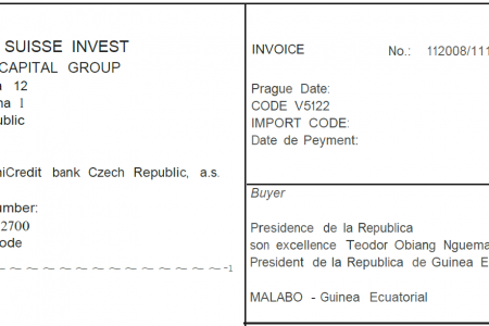 Teodoro Obiang adeuda 136.666,30€ a Suisse Invest Private Capital Group AG desde 2008