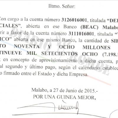 El gobierno de Guinea Ecuatorial utilizó los fondos de reserva para pagar sus deudas