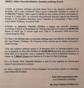 Obiang deberá pagar una indemnización de 9.471.033,12 euros a la empresa Marseille Kliniken