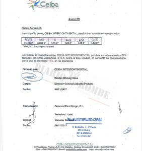 Ruslan Obiang firmó un contrato ilegal con la empresa que gestiona las mercancías de Ceiba Intercontinental